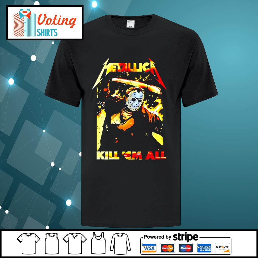 Horror movie Jason Voorhees metallica kill 'em all shirt