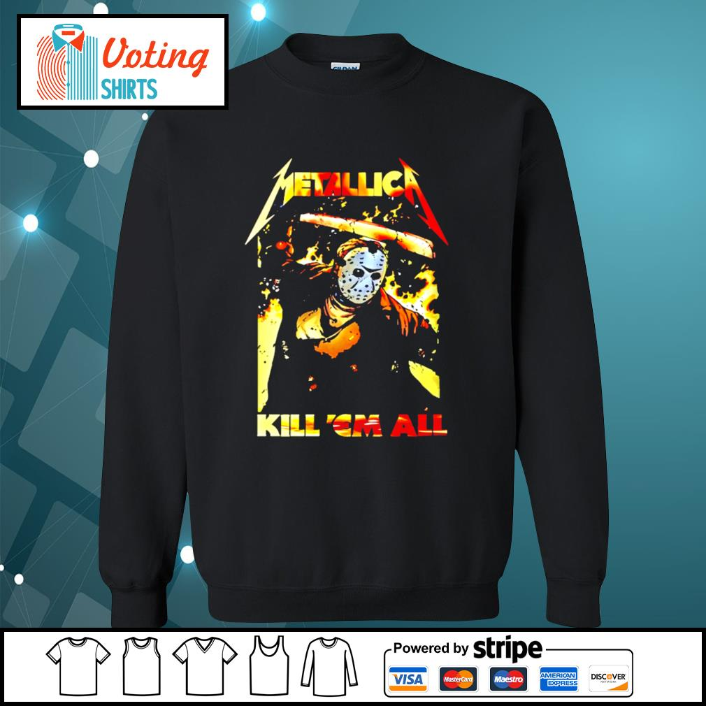 Horror movie Jason Voorhees metallica kill 'em all s sweater
