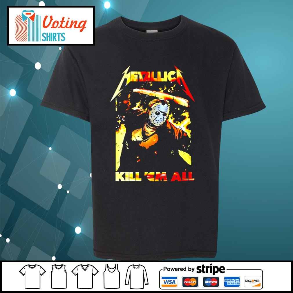 Horror movie Jason Voorhees metallica kill 'em all s youth-tee