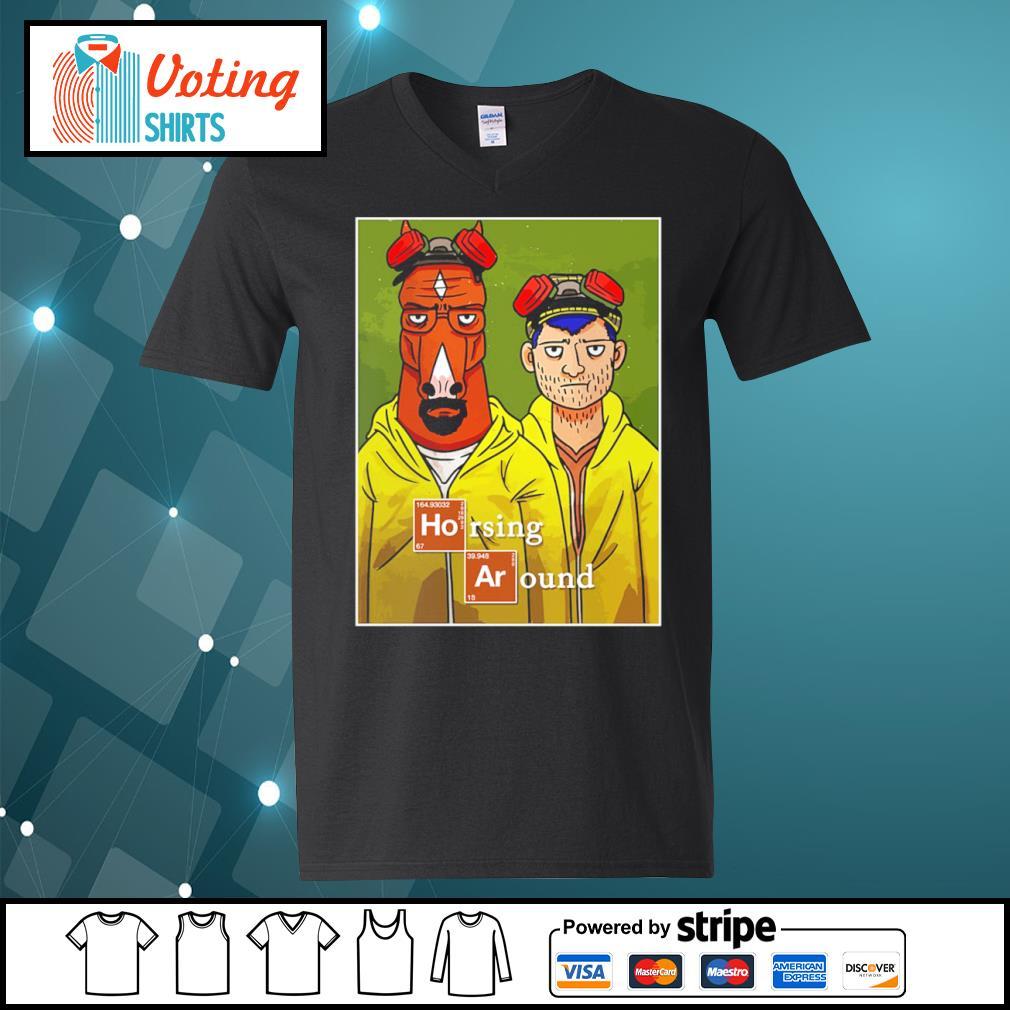 Horsing Around movie funny custom s v-neck-t-shirt