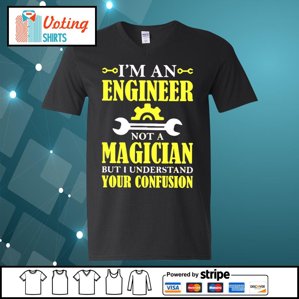 I'm an engineer not a magician but I understand your confusion s v-neck-t-shirt