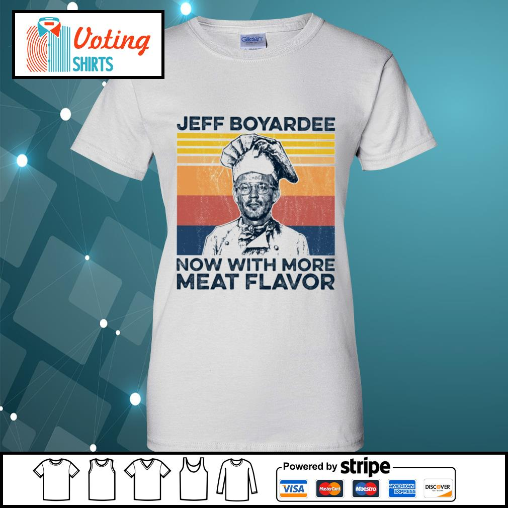 Jeff Boyardee now with more meat flavor vintage s ladies-tee