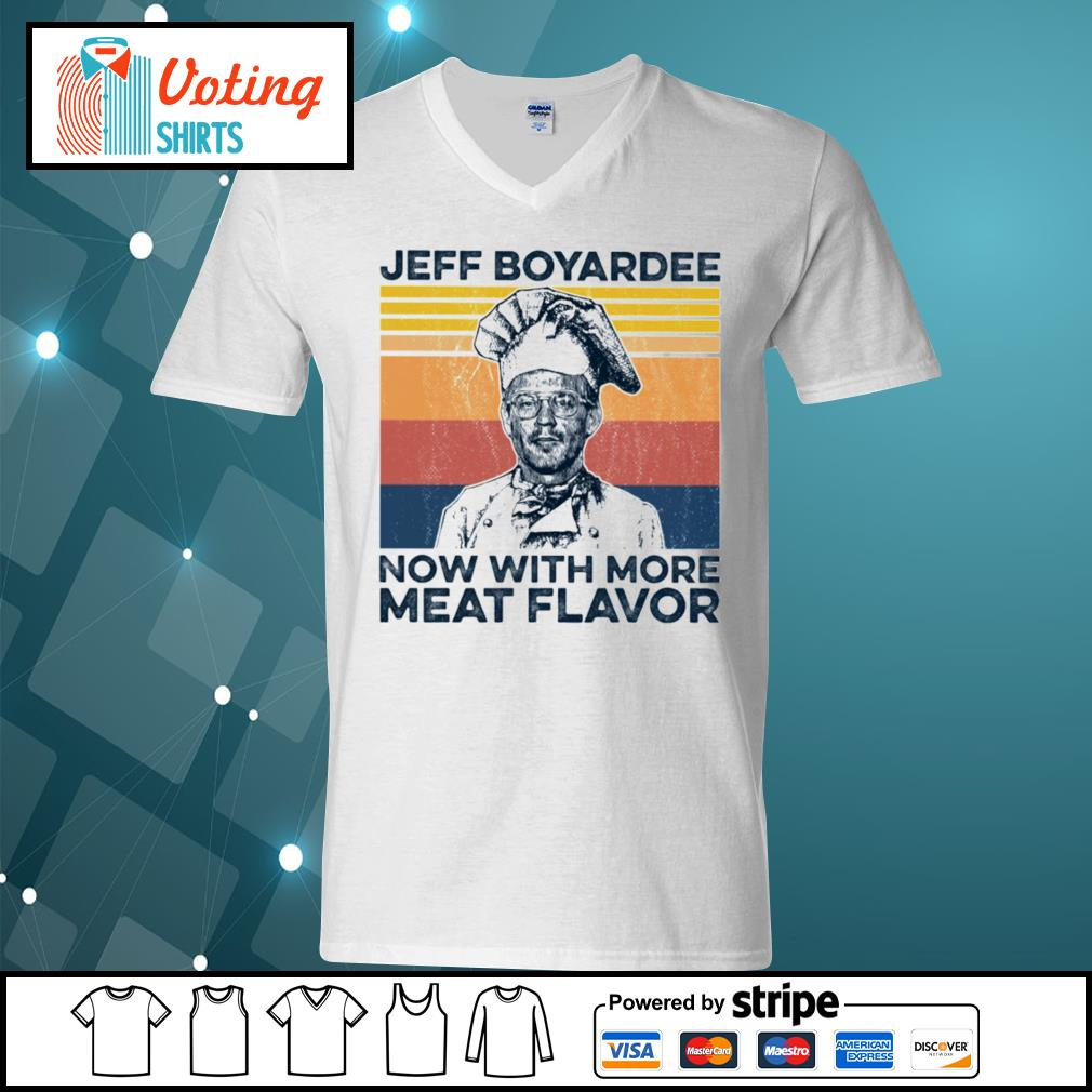 Jeff Boyardee now with more meat flavor vintage s v-neck-t-shirt