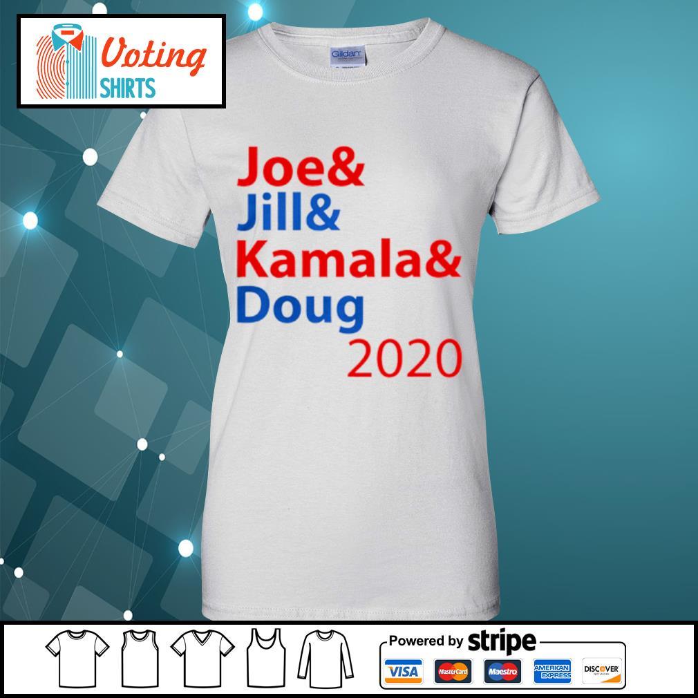 Joe And Jill And Kamala And Doug 2020 s ladies-tee