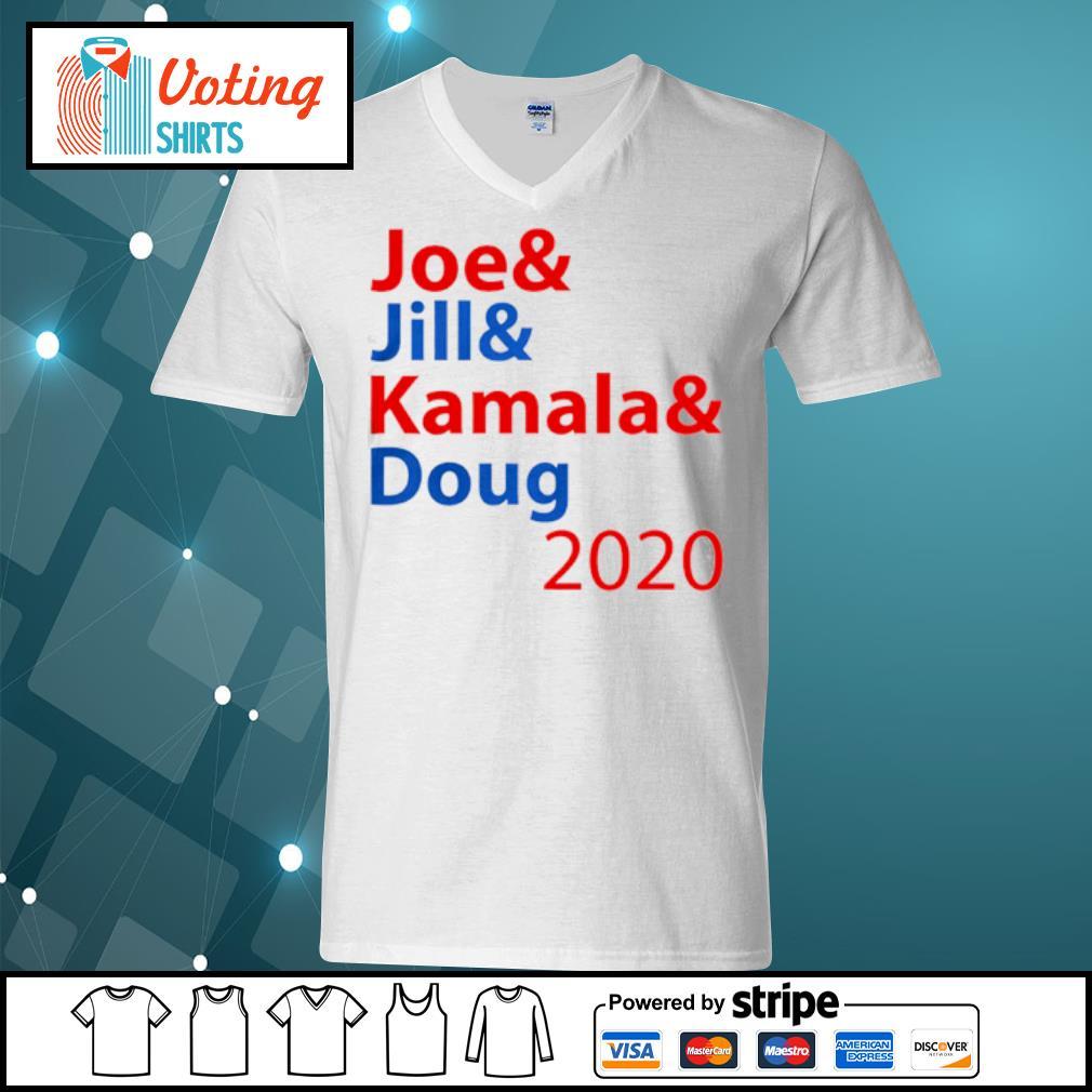 Joe And Jill And Kamala And Doug 2020 s v-neck-t-shirt