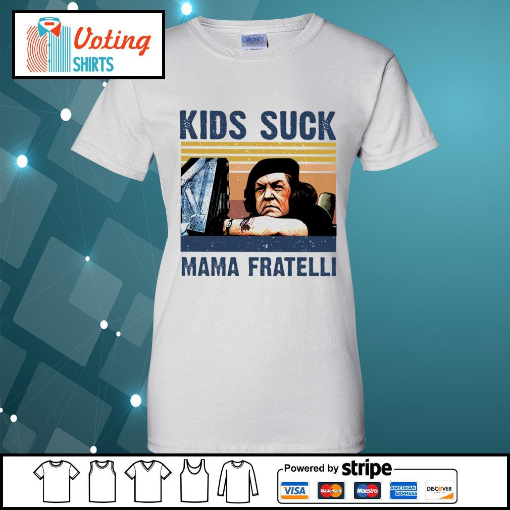 Kids suck Mama Fratelli vintage s ladies-tee