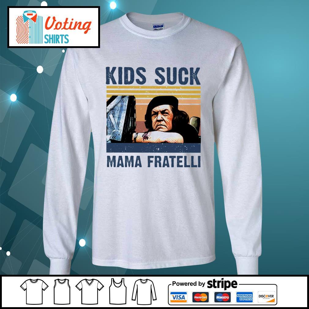 Kids suck Mama Fratelli vintage s longsleeve-tee