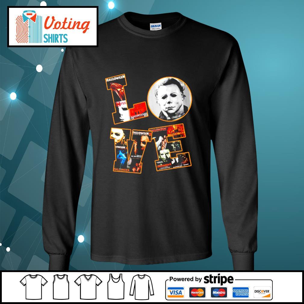 Love Michael Myers Halloween s longsleeve-tee