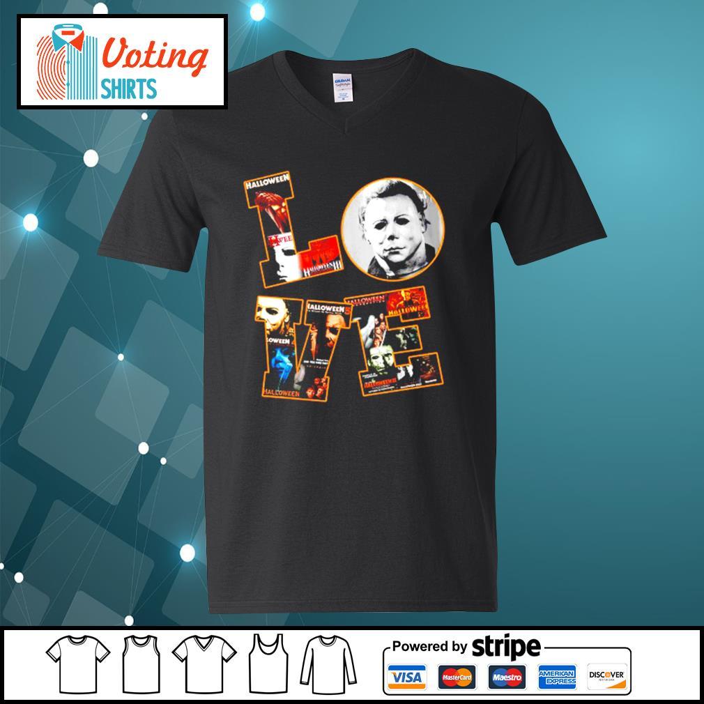 Love Michael Myers Halloween s v-neck-t-shirt