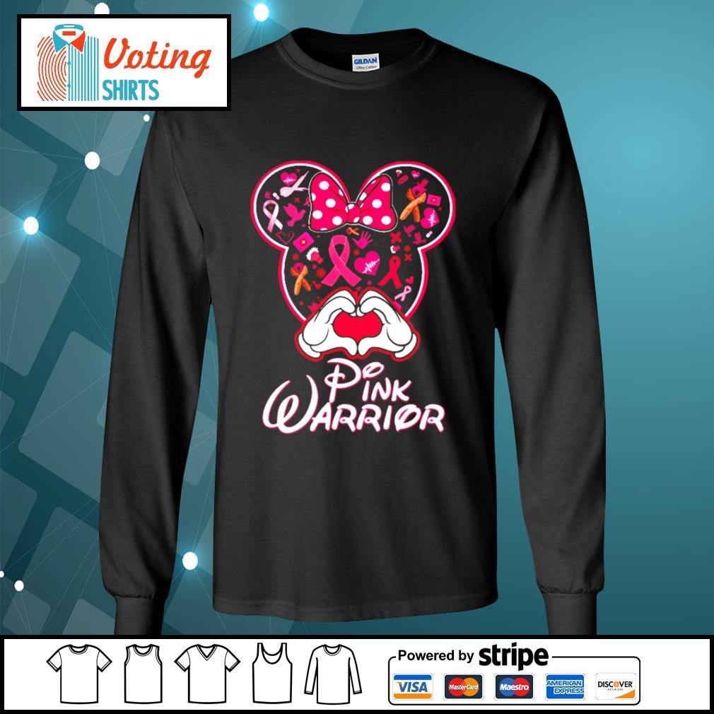 Minnie Mouse pink warrior s longsleeve-tee