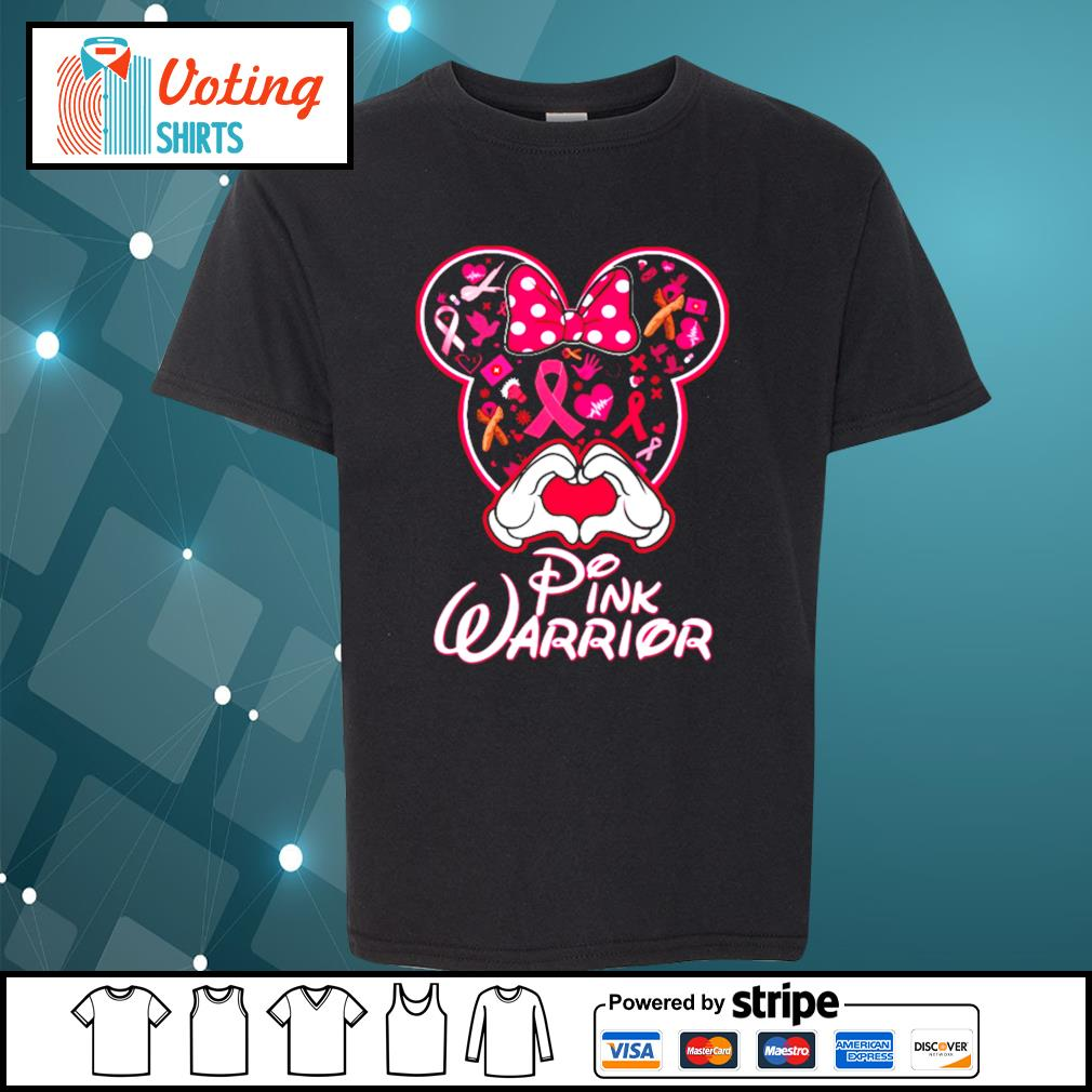 Minnie Mouse pink warrior s youth-tee