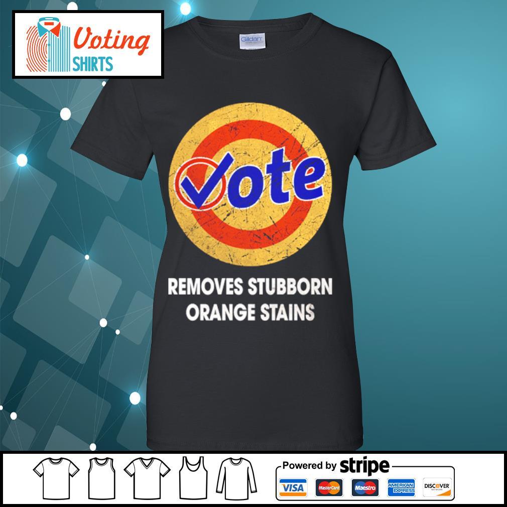 Vote removes stubborn orange stains s ladies-tee