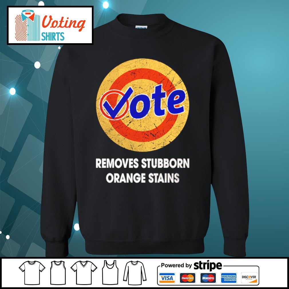 Vote removes stubborn orange stains s sweater
