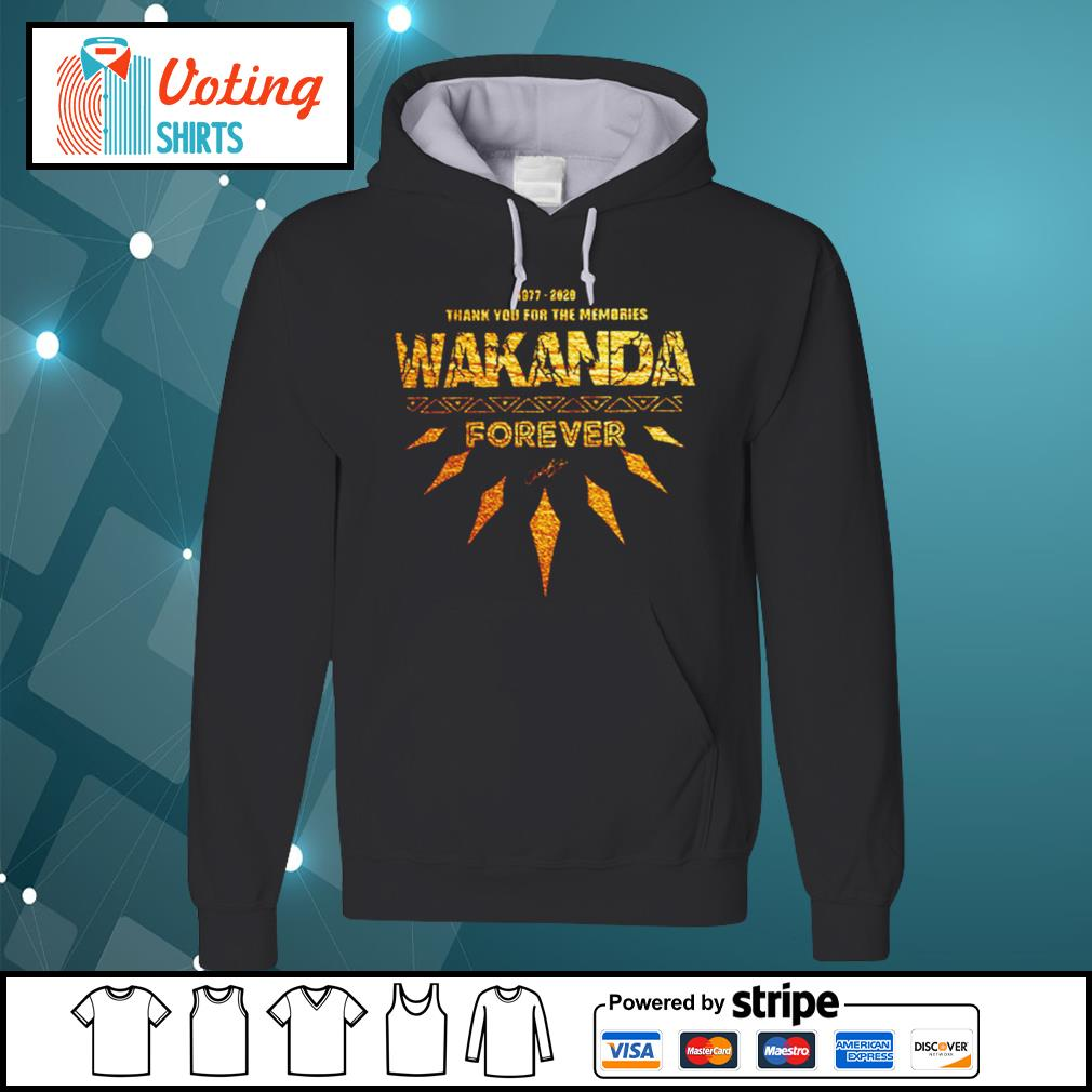 1977-2020 thank you for the memories Wakanda Forever s hoodie