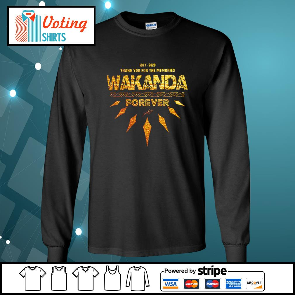 1977-2020 thank you for the memories Wakanda Forever s longsleeve-tee
