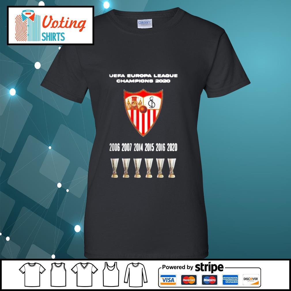 2020 Sevilla Champions Europa League Shirt ladies-tee