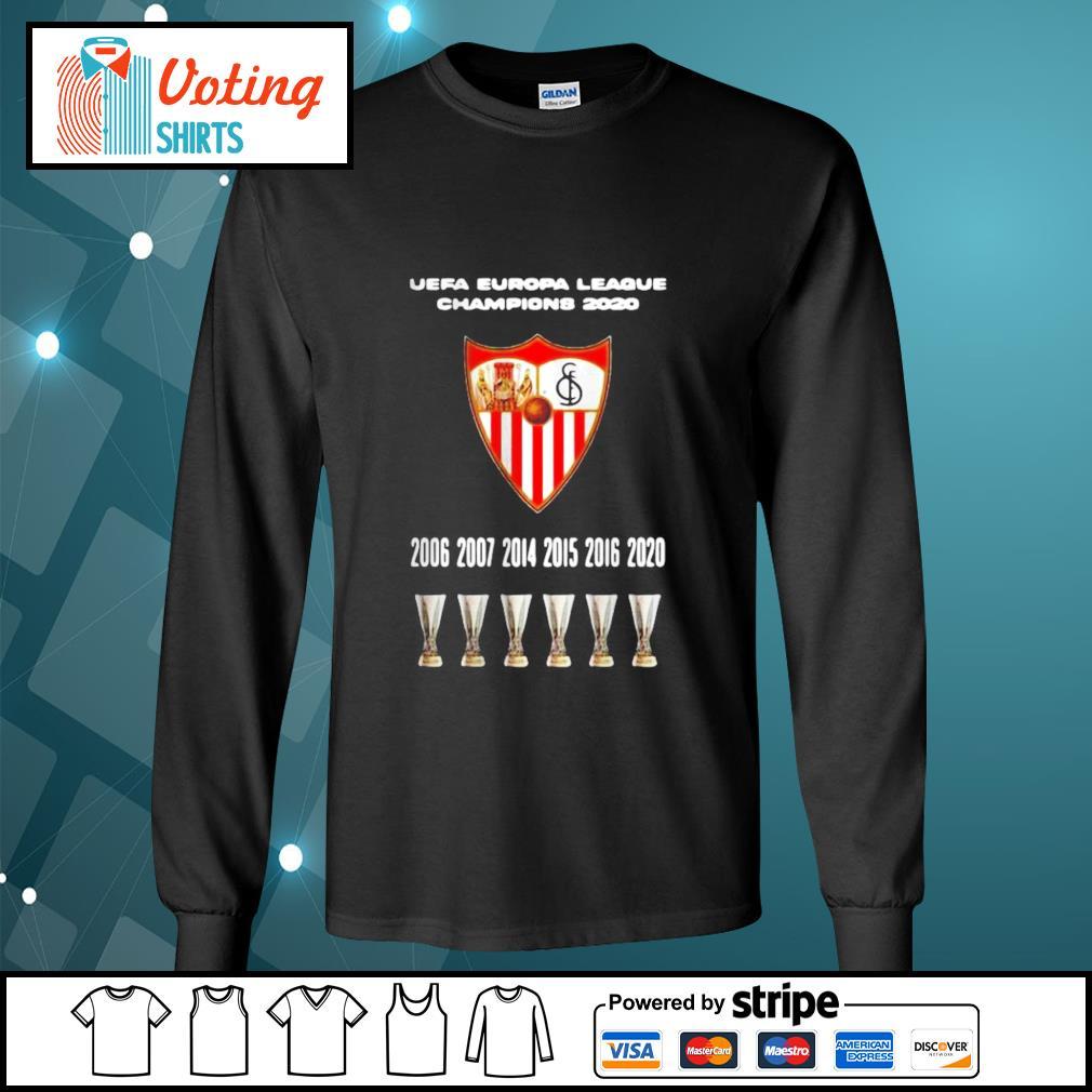 2020 Sevilla Champions Europa League Shirt longsleeve-tee