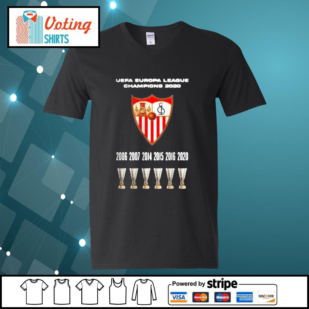 2020 Sevilla Champions Europa League Shirt v-neck-t-shirt