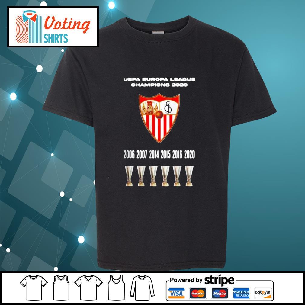 2020 Sevilla Champions Europa League Shirt youth-tee