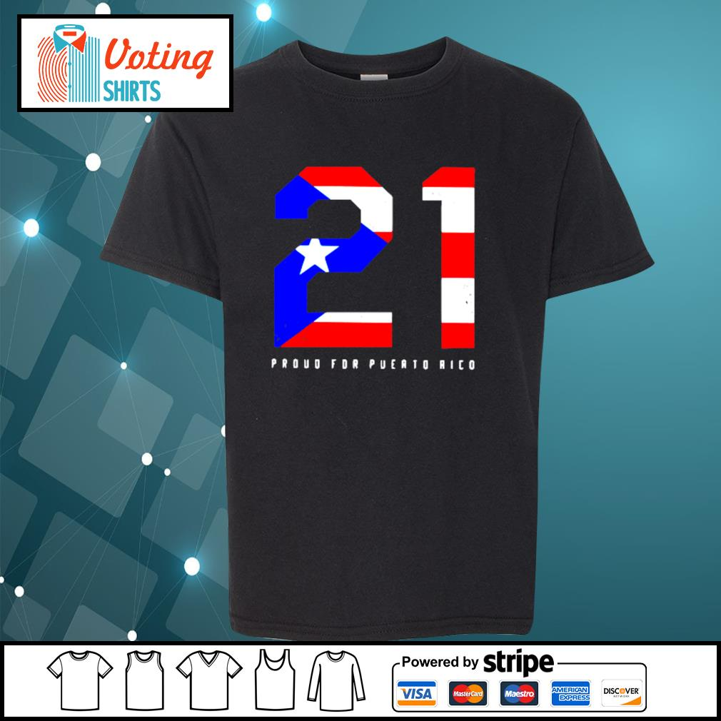 21 Proud for Puerto Rico American flag s youth-tee