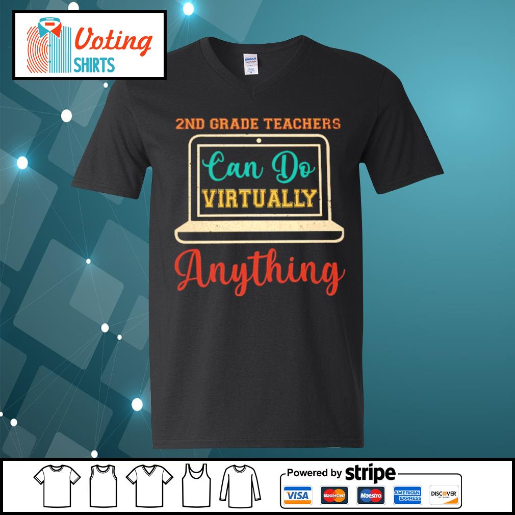 2nd grade can do virtually anything vintage s v-neck-t-shirt