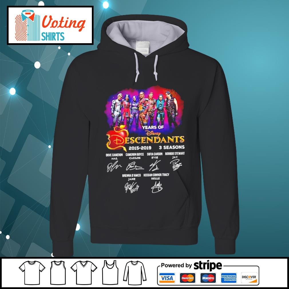 4 years of Disney Descendants 2015-2019 3 seasons signatures s hoodie