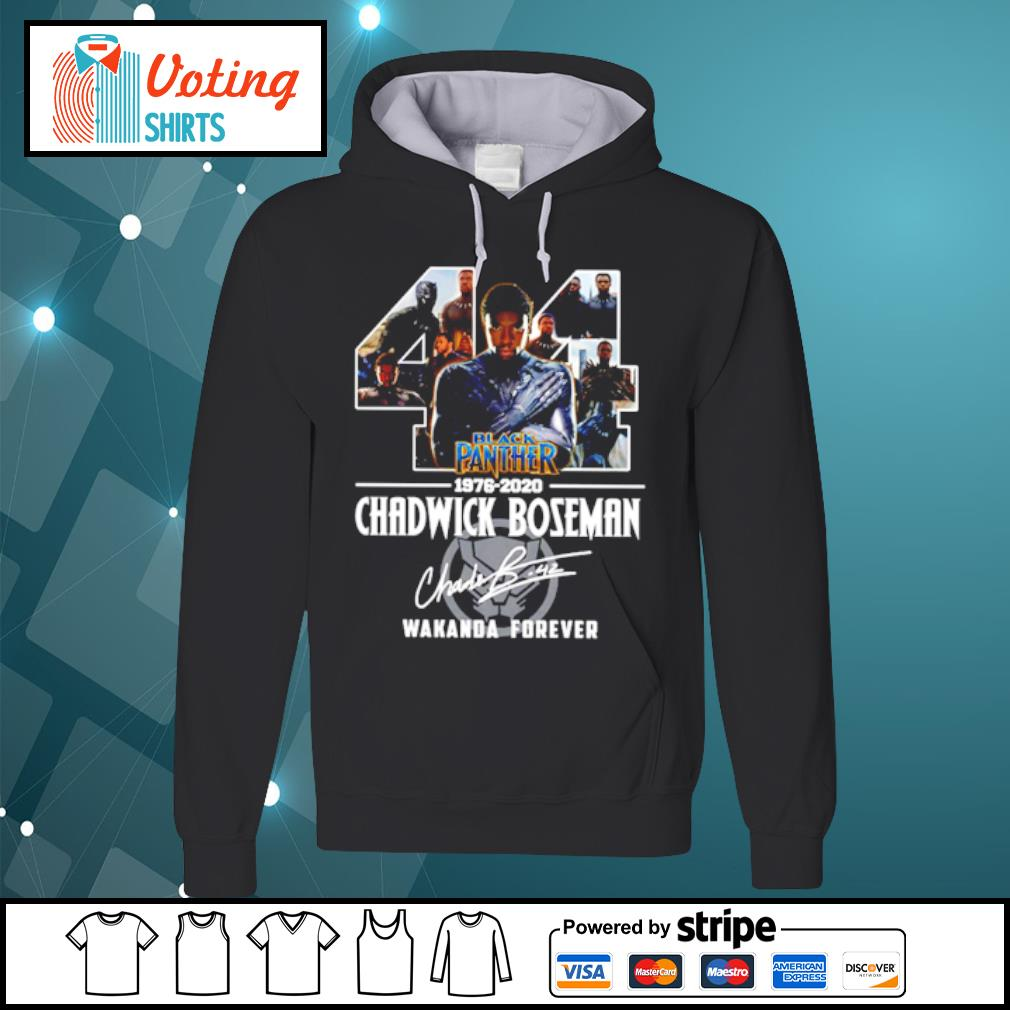 44 black panther 1976-2020 Chadwick Boseman Wakanda forever s hoodie
