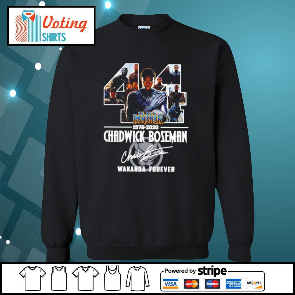 44 black panther 1976-2020 Chadwick Boseman Wakanda forever s sweater