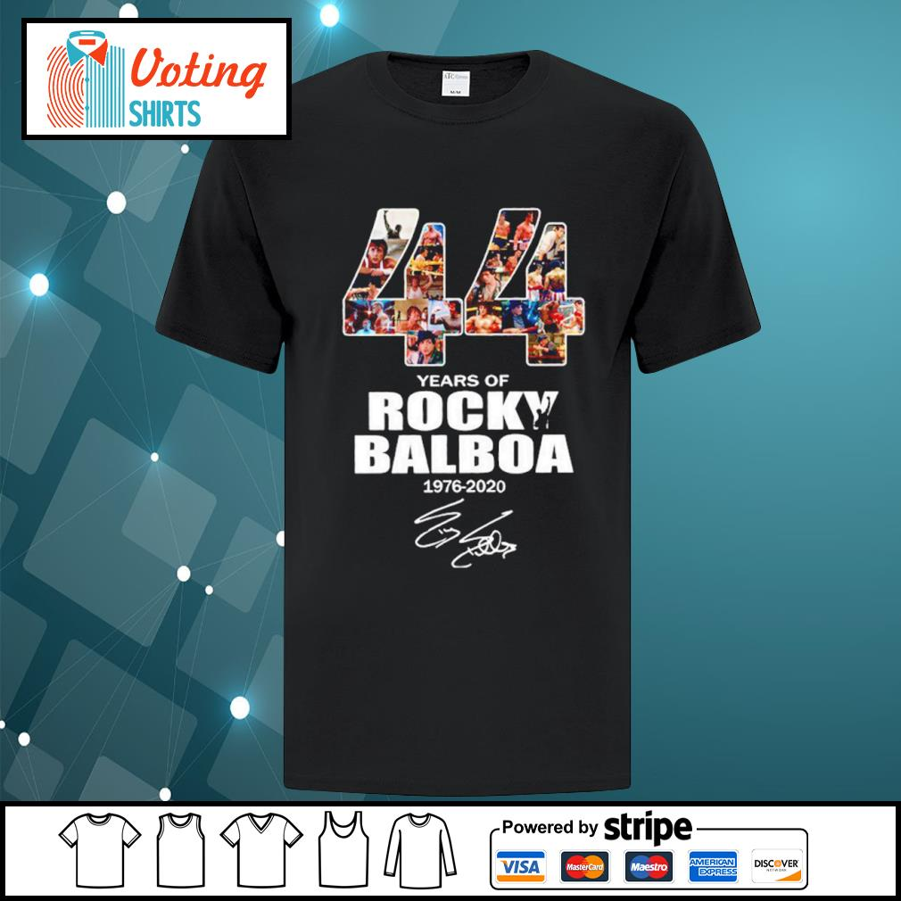 44 years of Rocky Balboa 1976 2020 signature shirt