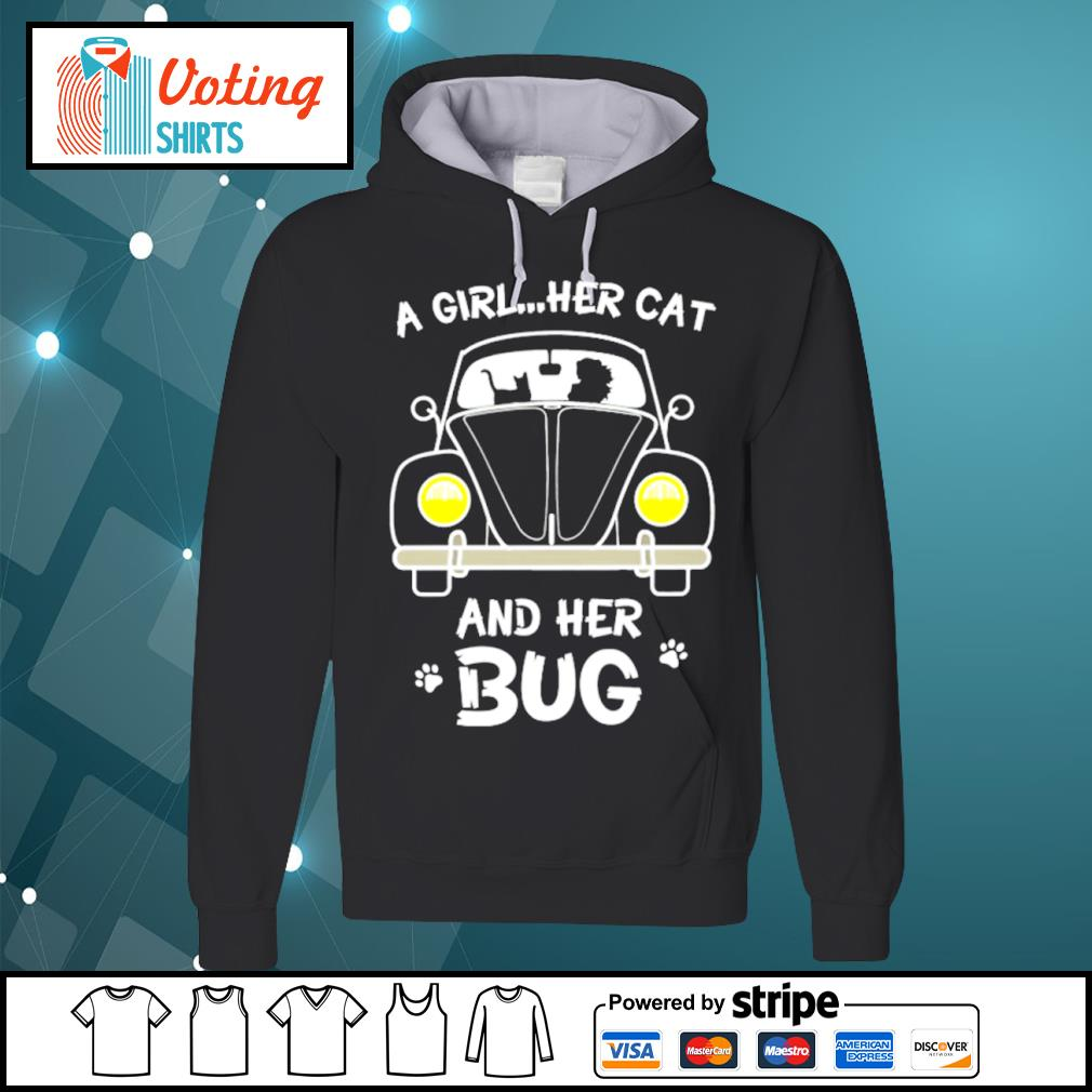 A girl her cat and her bug s hoodie