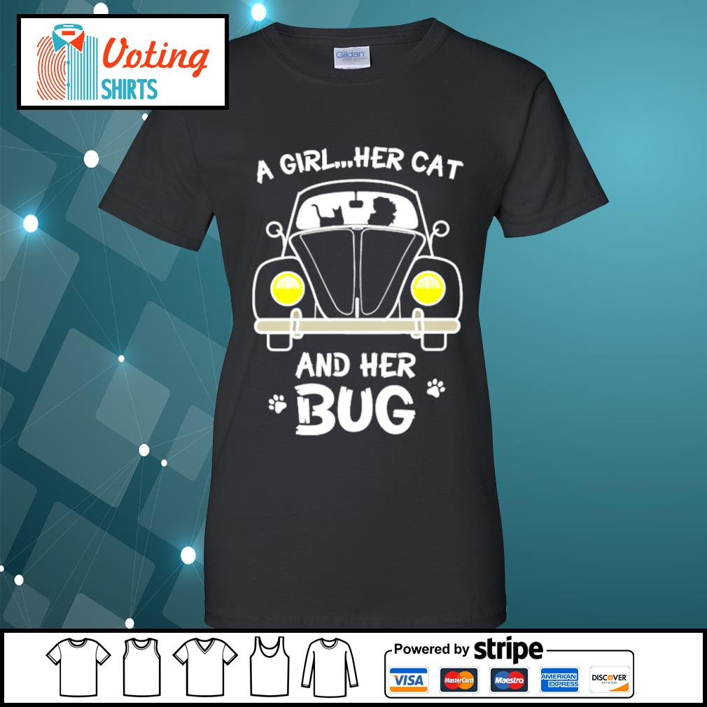 A girl her cat and her bug s ladies-tee