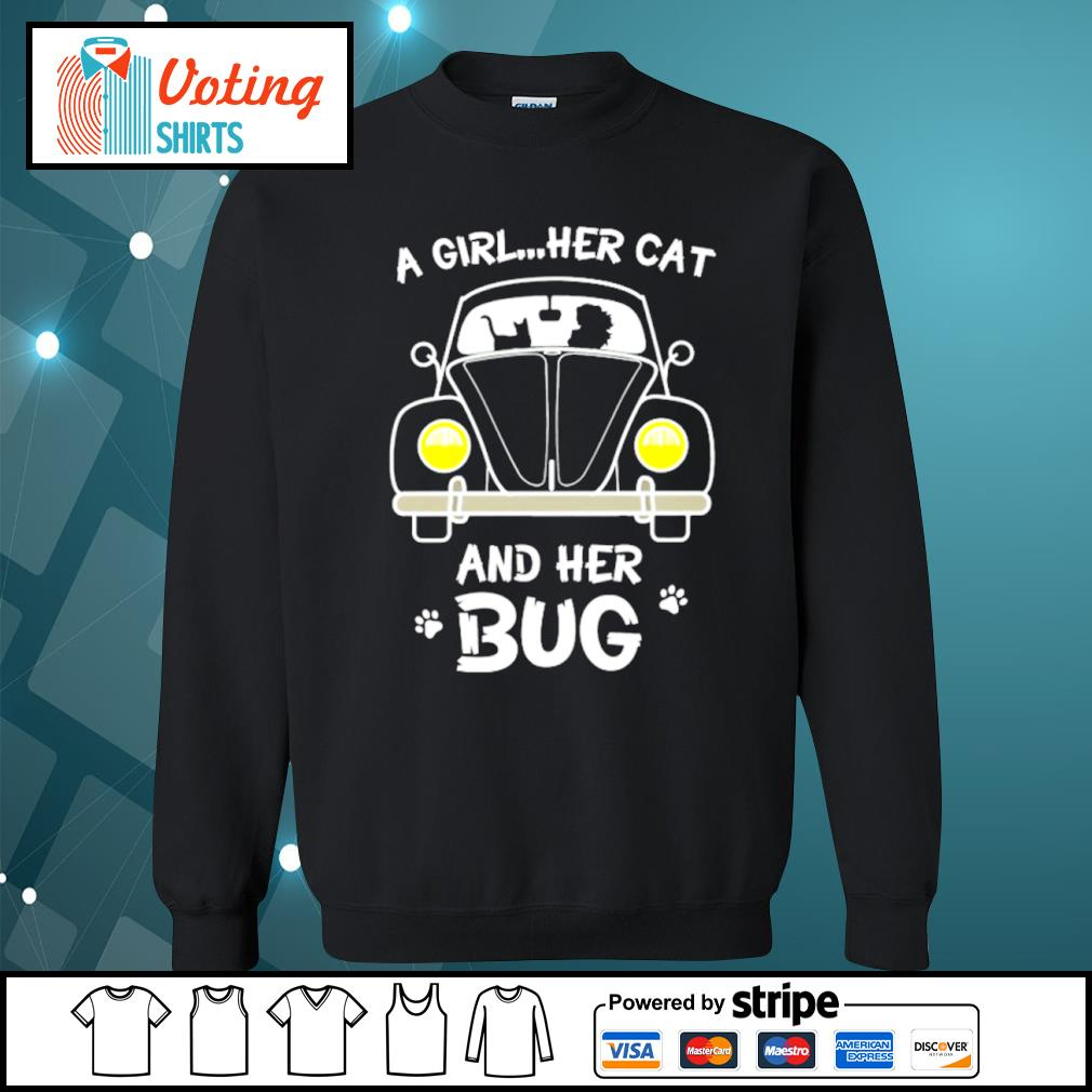 A girl her cat and her bug s sweater