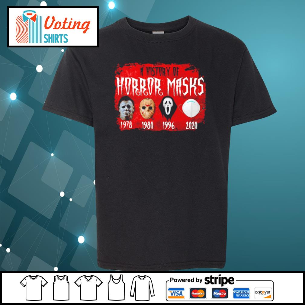 A history of horror masks Halloween social distancing s youth-tee