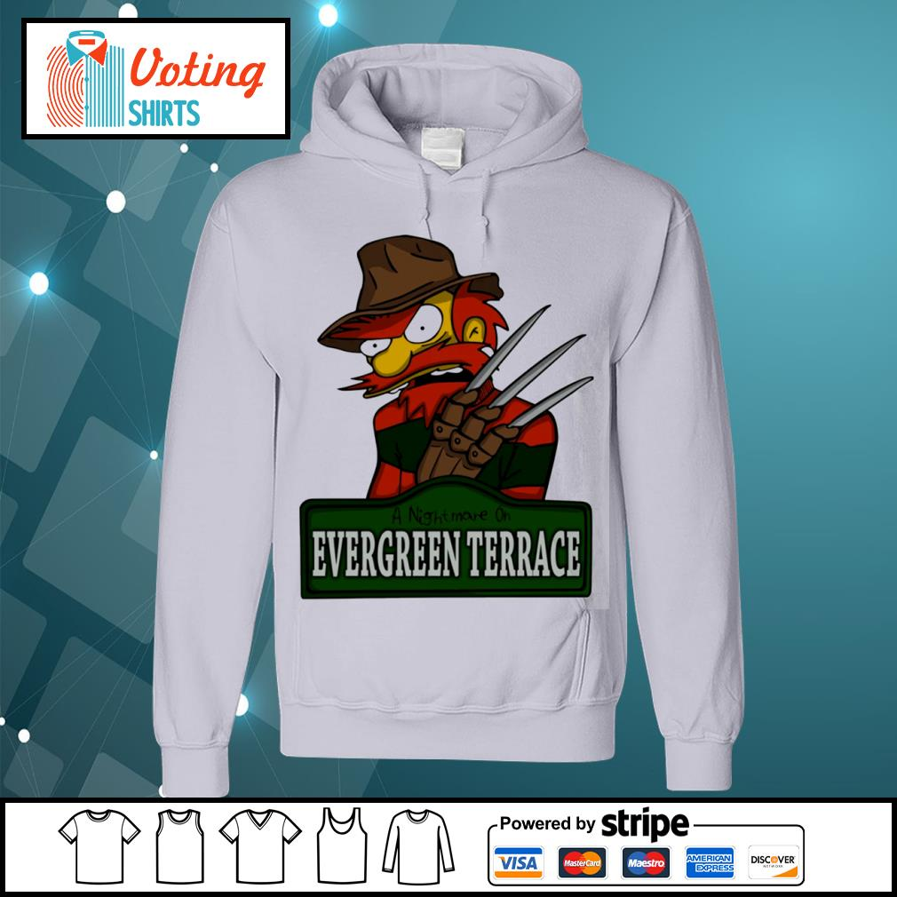 A nightmare on Evergreen Terrace s hoodie