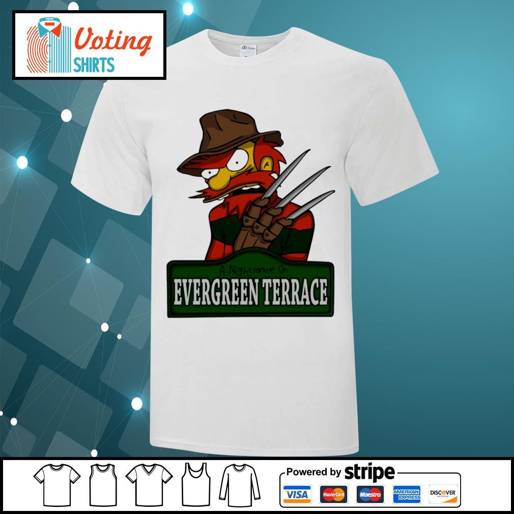 A nightmare on Evergreen Terrace shirt