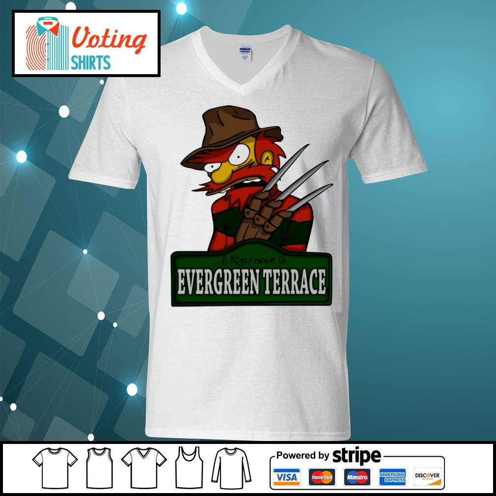 A nightmare on Evergreen Terrace s v-neck-t-shirt