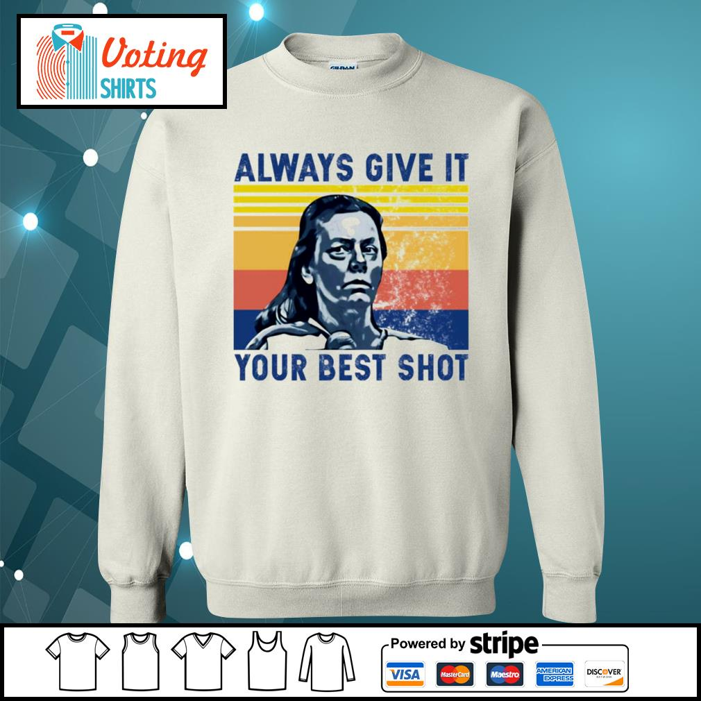 Aileen Wuornos always give it your best shot vintage s sweater