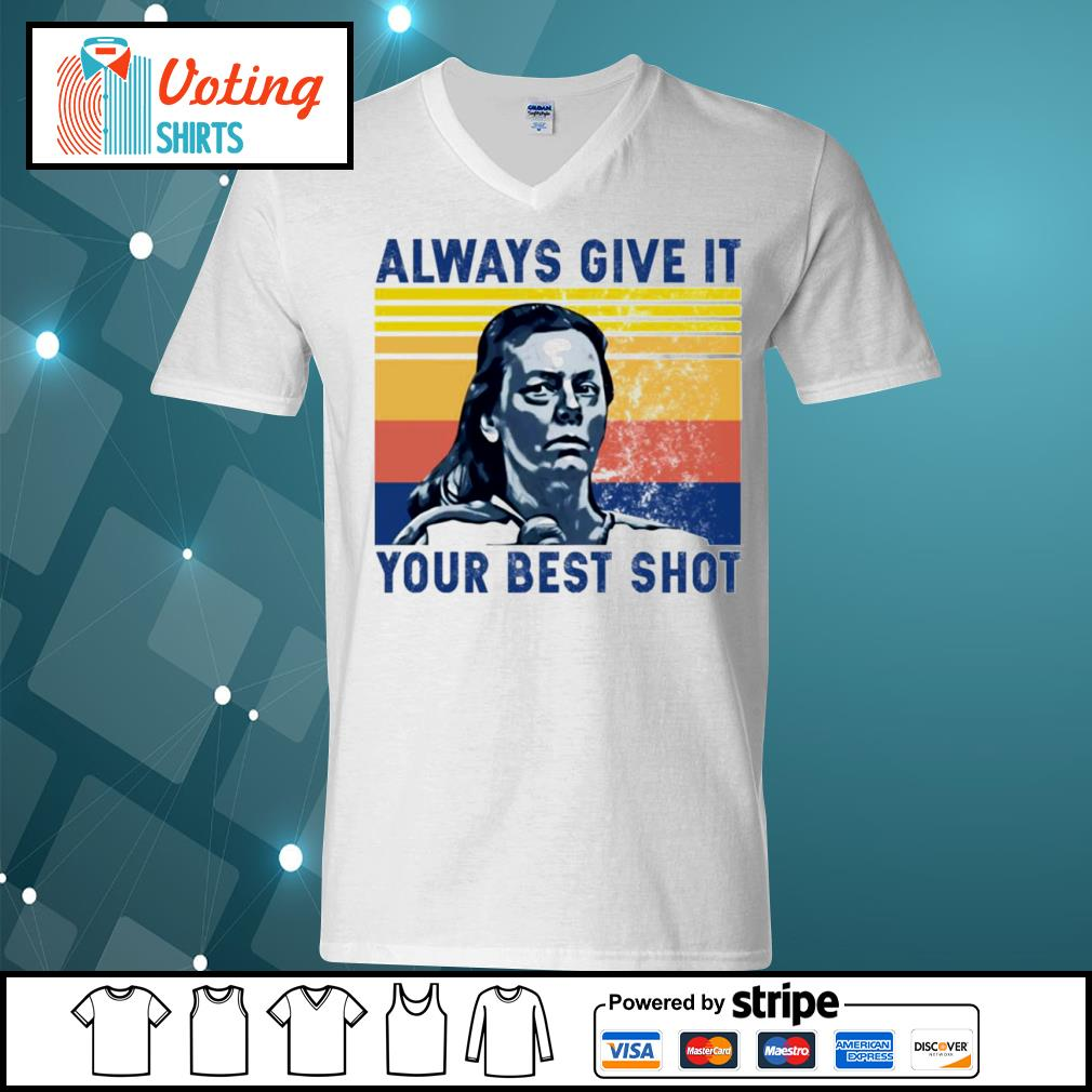 Aileen Wuornos always give it your best shot vintage s v-neck-t-shirt