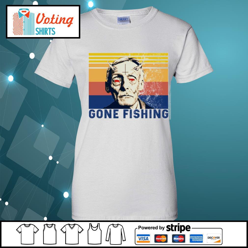 Albert Fish gone fishing vintage s ladies-tee