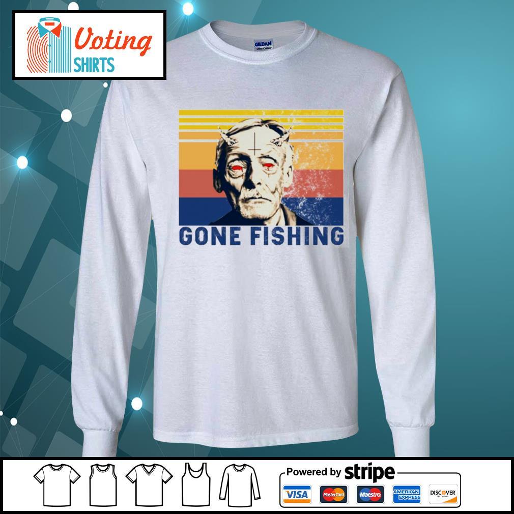 Albert Fish gone fishing vintage s longsleeve-tee