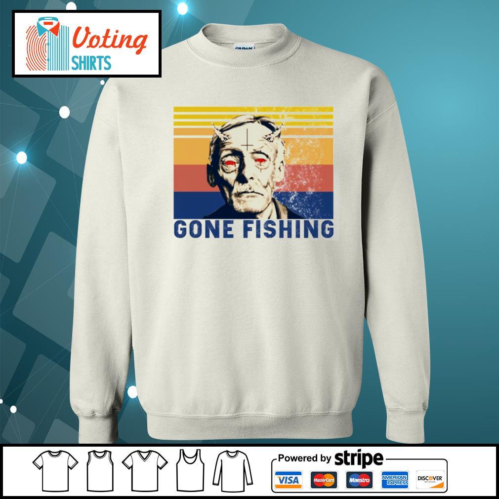 Albert Fish gone fishing vintage s sweater