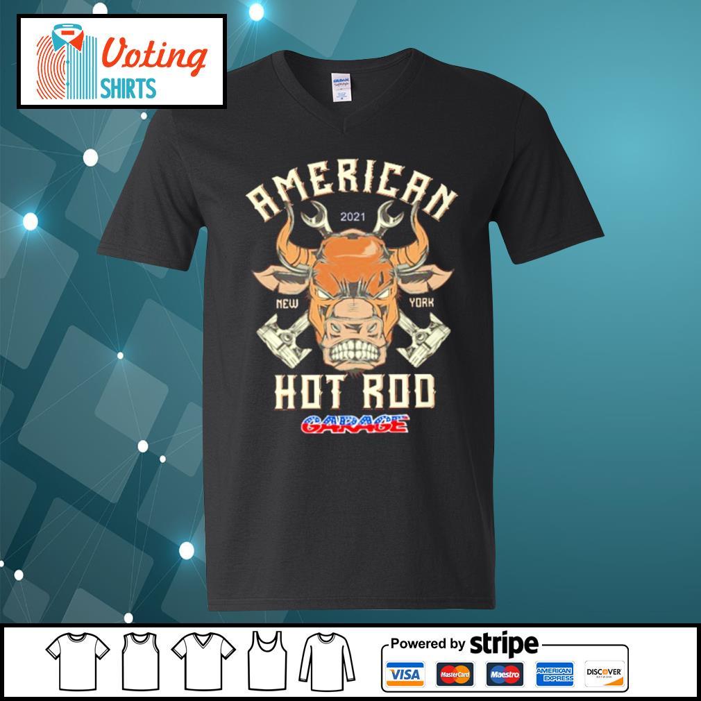 American 2021 New York Hot Rod Garage s v-neck-t-shirt