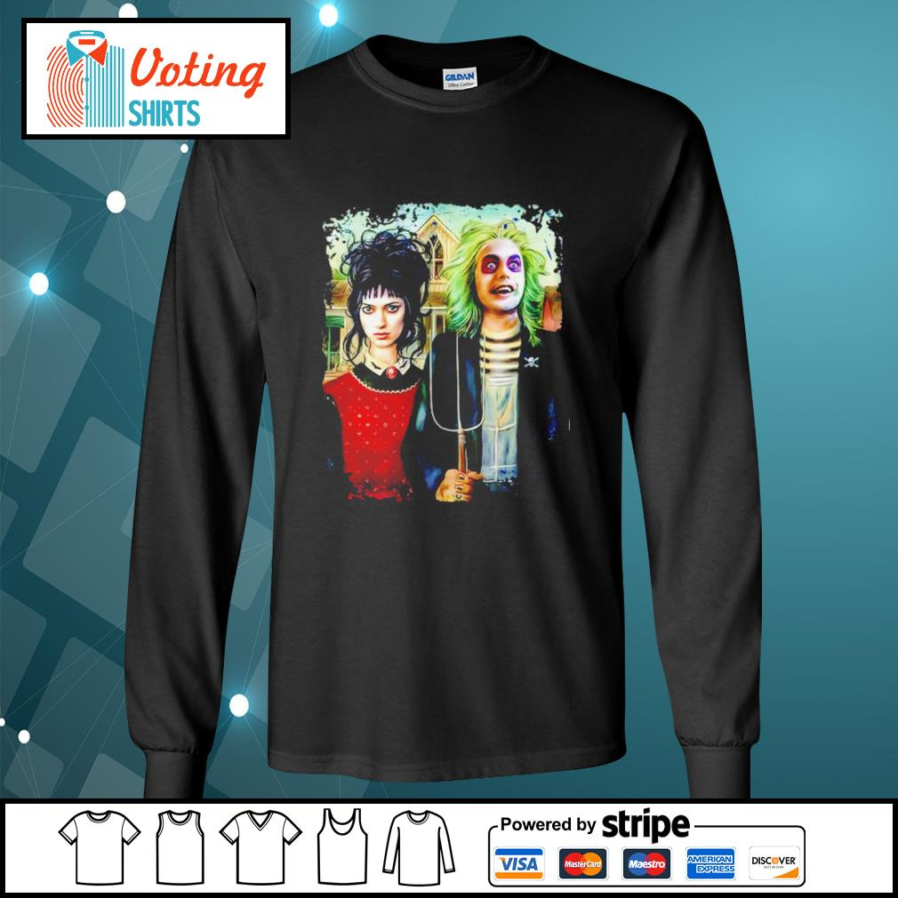 American Gothic Beetlejuice and Lydia s longsleeve-tee