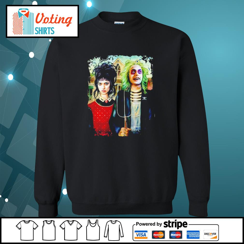 American Gothic Beetlejuice and Lydia s sweater