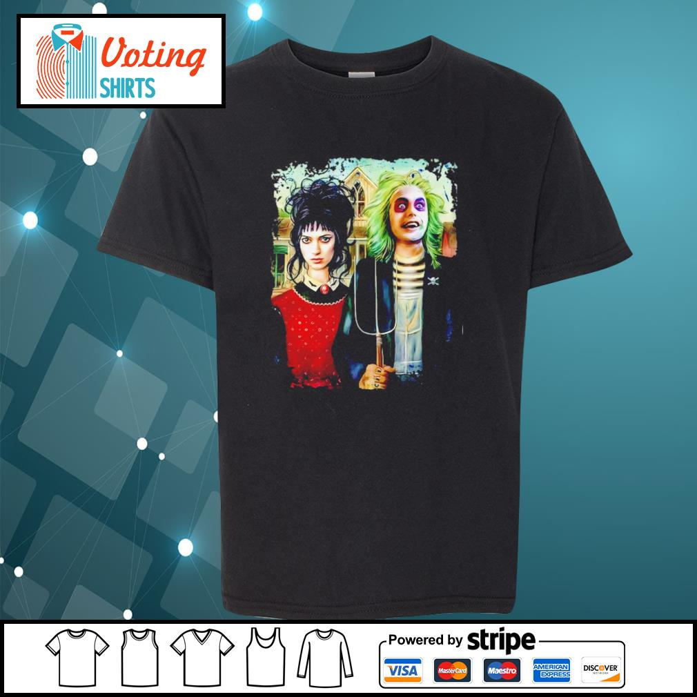 American Gothic Beetlejuice and Lydia s youth-tee