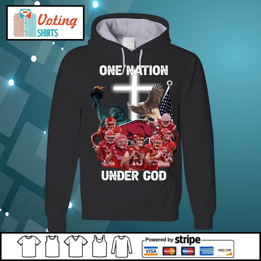 Arkansas Razorbacks one nation under god s hoodie