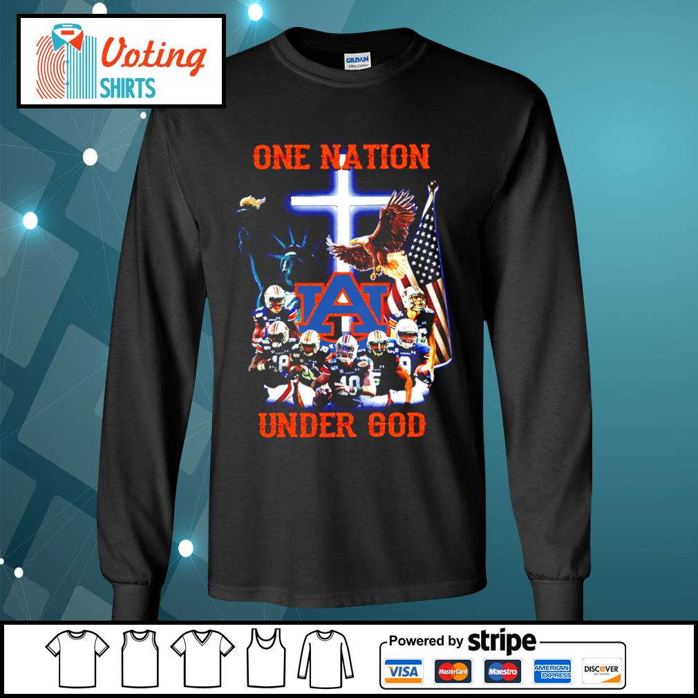 Auburn Tigers one nation under god s longsleeve-tee