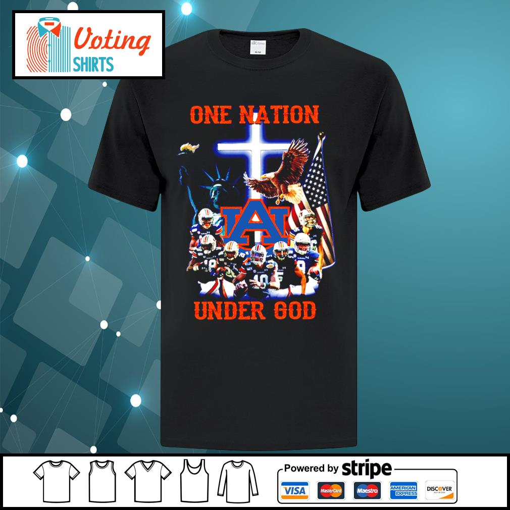 Auburn Tigers one nation under god shirt