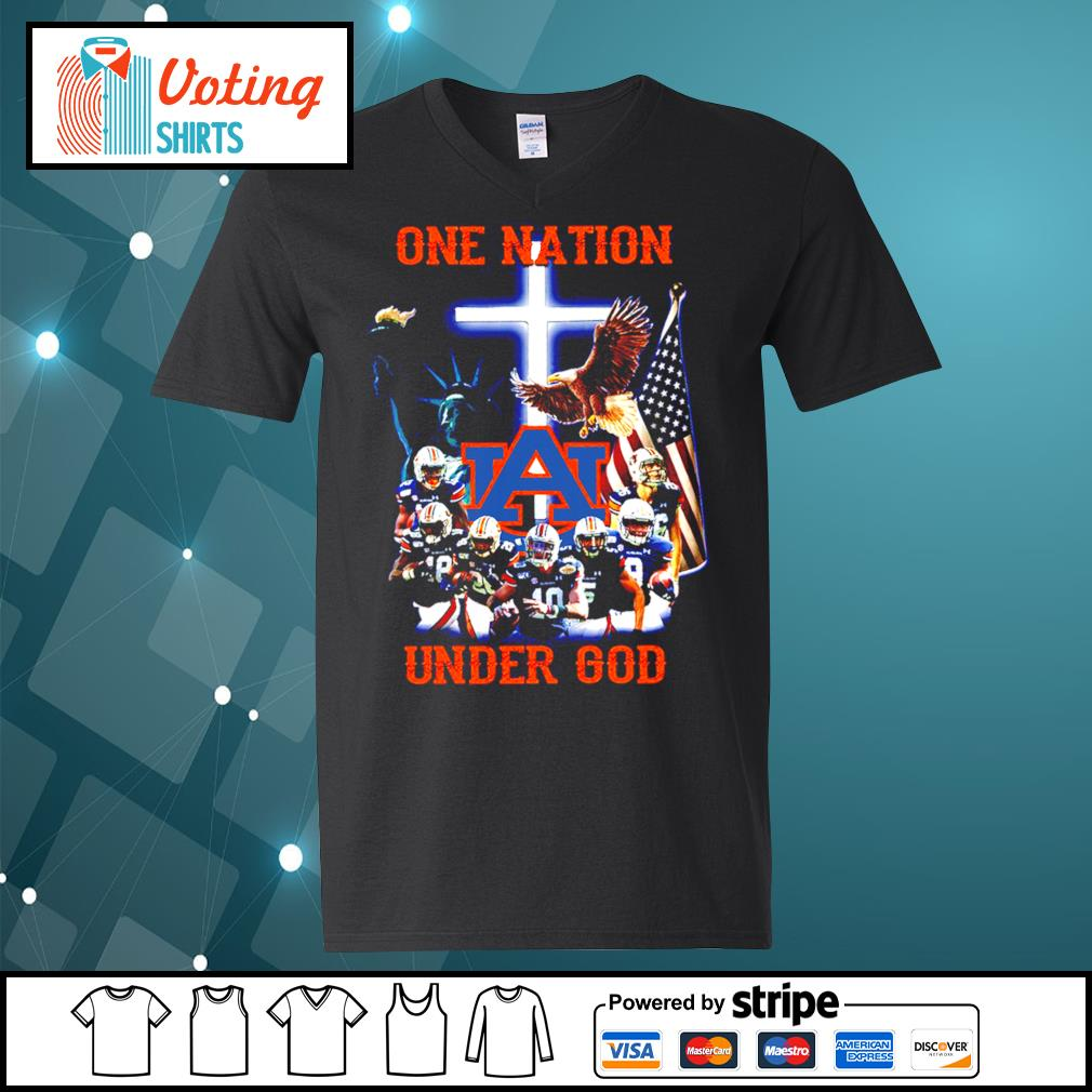 Auburn Tigers one nation under god s v-neck-t-shirt