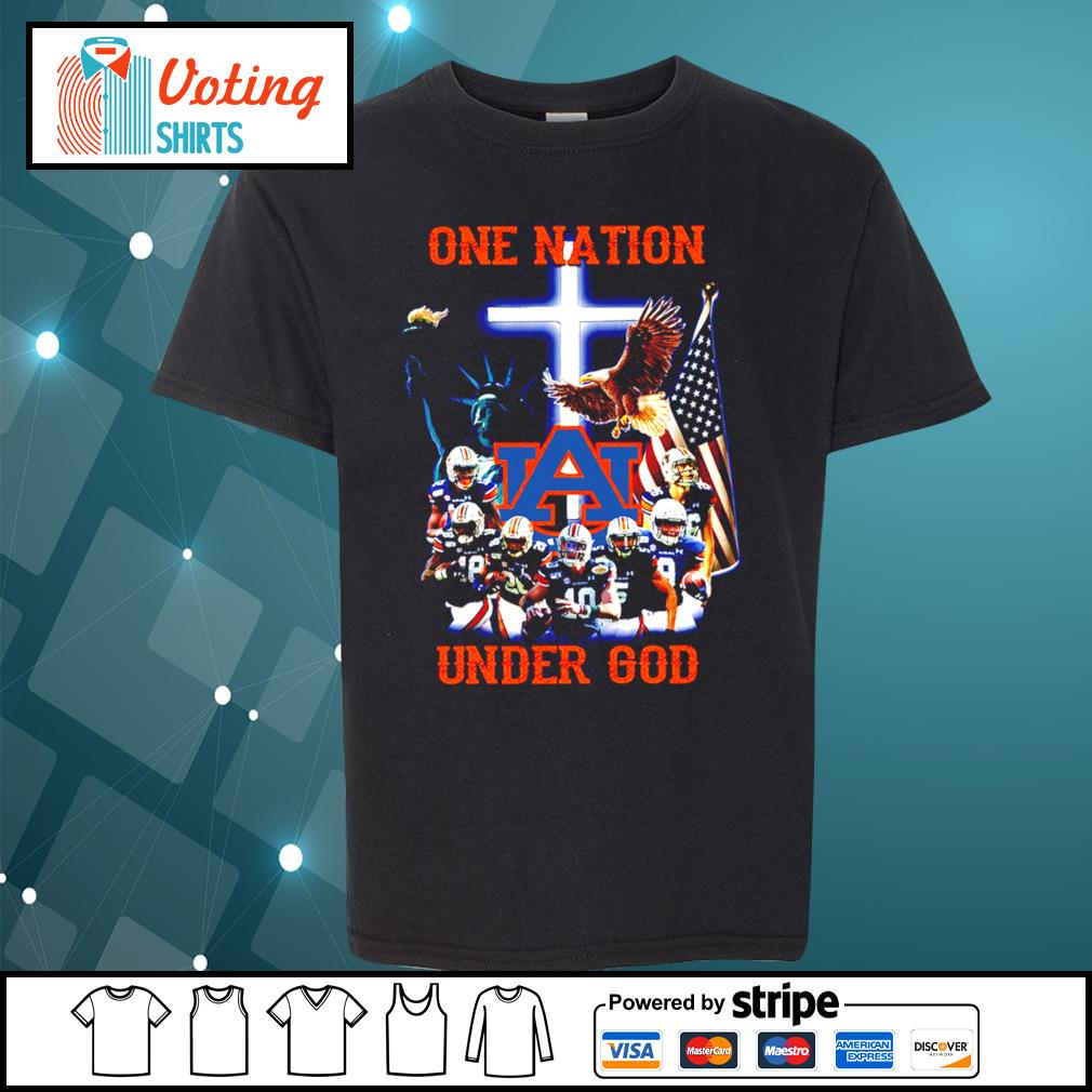 Auburn Tigers one nation under god s youth-tee